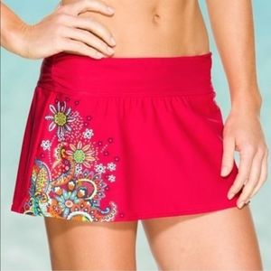 Athleta Montego Swim Skirt Paisley Bikini